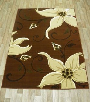 Modern Approx 6x4 115cmx165cm Woven Lily Design Rugs Sale Top Quality Browns
